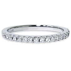 14K White Gold and Diamond .30 cttw Anniversary Ring