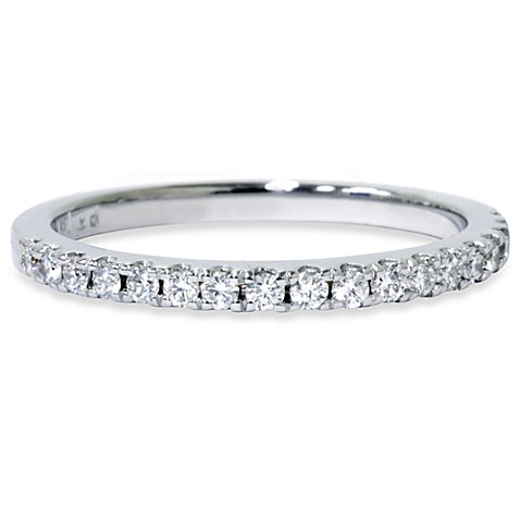 14K White Gold and Diamond Anniversary Ring (.30 cttw, SI1-SI2 Clarity, H-I Color) - Size 9