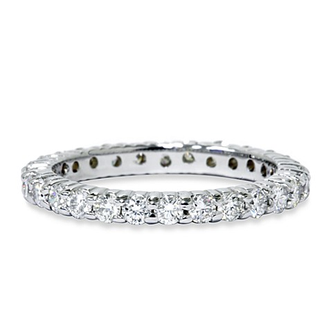 14K White Gold Round 1.50 cttw Diamond Eternity Ring