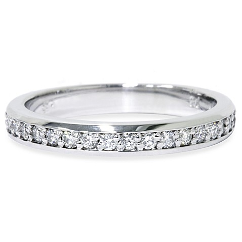 14K White Gold Diamond Anniversary Ring Size 9 (.35 cttw, SI1-SI2 Clarity, H-I Color)