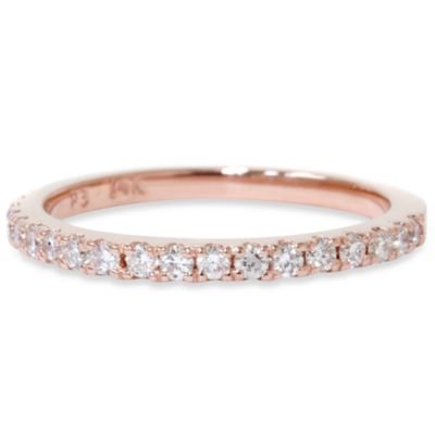 14K Rose Gold Diamond Anniversary Ring Size 5 (.30 cttw, SI1-SI2 Clarity, H-I Color)