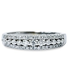 14K White Gold Diamond Anniversary Ring (.33 cttw, SI1-SI2 Clarity, H-I Color)