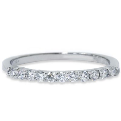 14K White Gold 1/5 cttw Diamond Anniversary Stackable Ring