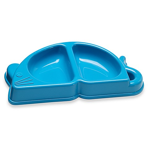 Pet Buddies Mouse-Shaped Cat Dish in Light Blue