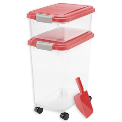 IRIS® 3-Piece Airtight Pet Food Container Combo