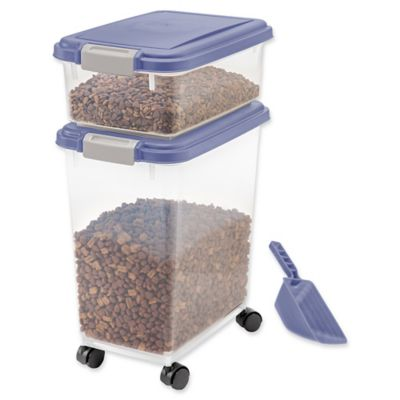 IRIS USA 3-Piece Airtight Pet Food Container Combo in Purple