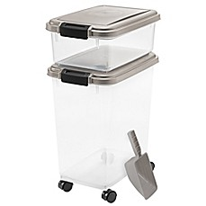 IRIS USA 3-Piece Airtight Pet Food Container Combo