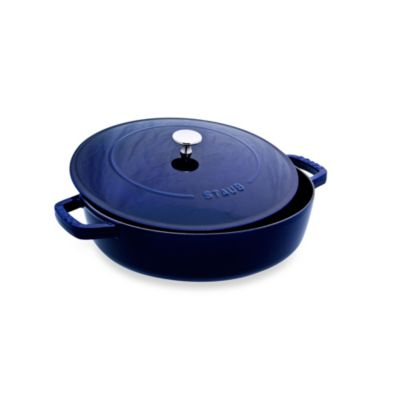 Staub 4-Quart Covered Saute Pan/Braiser in Dark Blue