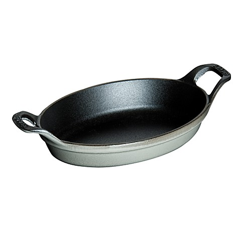 Staub 8-Ounce Mini Oval Roasting Dish in Graphite