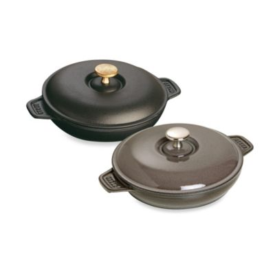 Staub 0.75-Quart Round Plate with Lid in Graphite