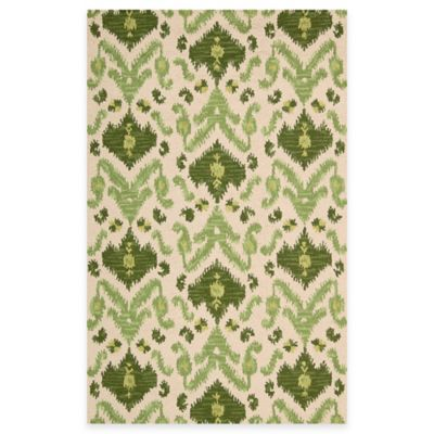 Siam 3-Foot 6-Inch x 5-Foot 6-Inch Rug in Ivory and Green