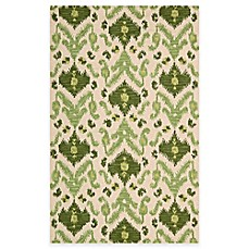 Siam Rug in Ivory/Green