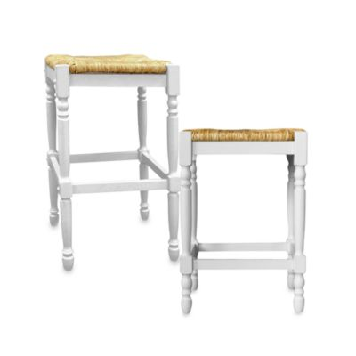Carolina Chair & Table Antique Hawthorne 24-Inch Counter Stool in White