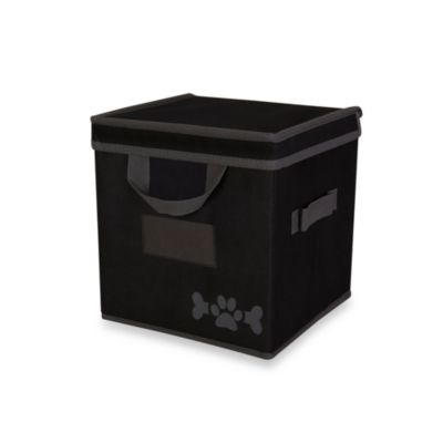 LAZYBONEZZ™ Pet Toy Box in Black