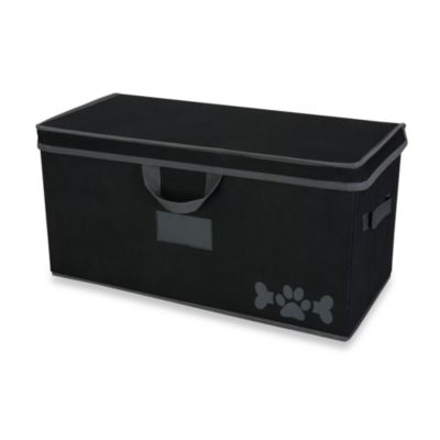LAZYBONEZZ™ Large Pet Toy Box in Black