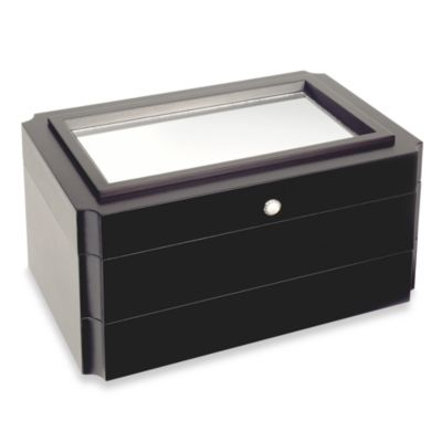 Mele & Co. Jordan Wooden Jewelry Box in Java Finish