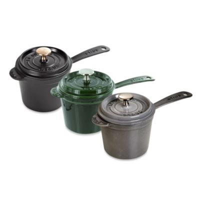 Staub 1.25-Quart Cast Iron Saucepan with Lid