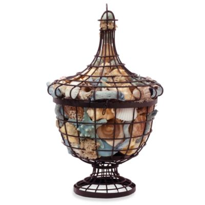 Ocean-Fragranced Potpourri in Wire Urn