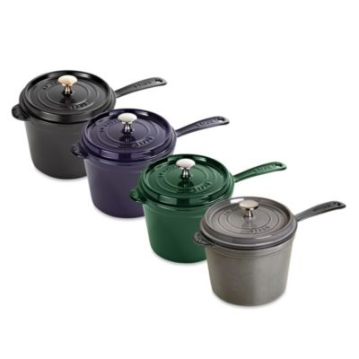 Staub 3-Quart Saucepan with Lid in Graphite
