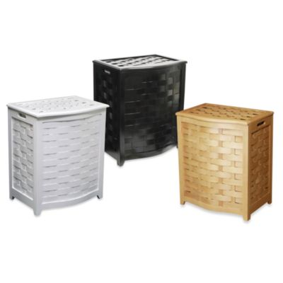 Solid Wood Hamper