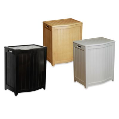 Oceanstar Bowed Front Wood Laundry Hampers