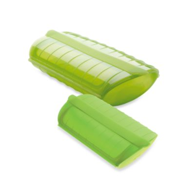 Lékué 1 to 2 Person Steam Case with Draining Tray in Lime Green