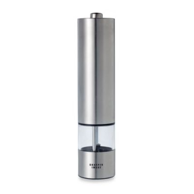 Battery Operated Stainless Steel Peppermill