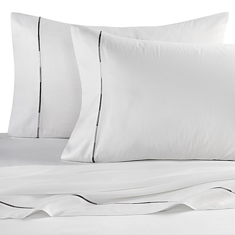 Kenneth Cole Reaction Home Baratta Stitch Sheet Set in White