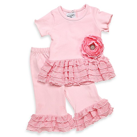 Mud Pie™ Pink Disco Ruffle Set