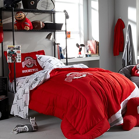 Ohio State Dorm Room Bedding