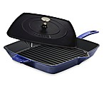Staub 12-Inch Grill Pan and Press Combo in Dark Blue