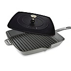Staub12-Inch Grill Pan and Press Combo in Graphite Grey