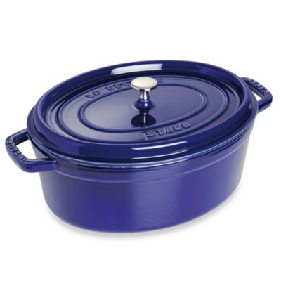 Dark Blue Oval Cocotte