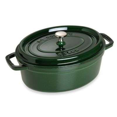 Staub 7-Quart Oval Cocotte in Basil