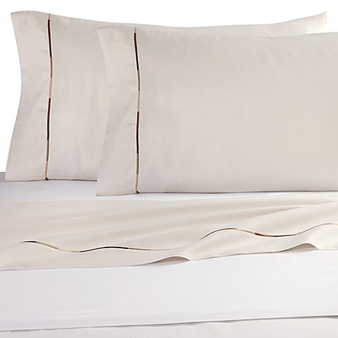 Kenneth Cole Reaction Home Baratta Stitch Pillowcases in Cream (Set of 2)