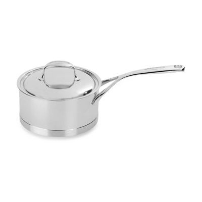 Demeyere Atlantis 1.6-Quart Stainless Steel Saucepan with Lid