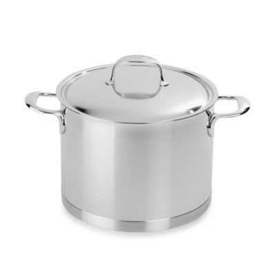 Demeyere Atlantis 8.5-Quart Stockpot with Lid in Stainless Steel