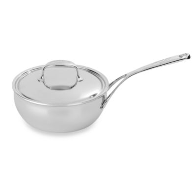 Demeyere Atlantis Stainless Steel Conical 2.1-Quart Saute Pan with Lid