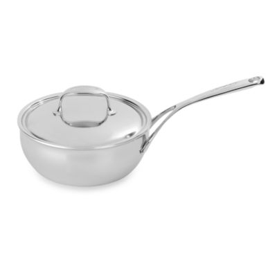 Demeyere Atlantis Stainless Steel Conical 2.6-Quart Saute Pan with Lid