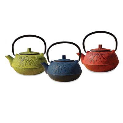 "Tetsubin ""Osaka"" 20-Ounce Cast Iron Tea Pots with Infuser"