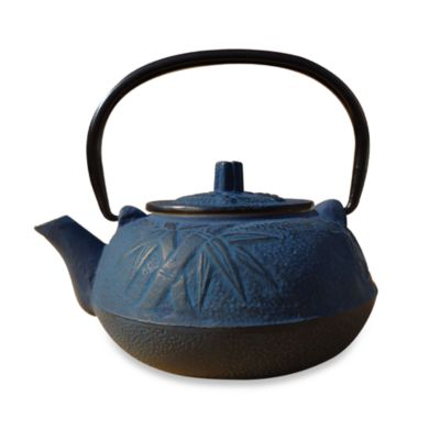 "Tetsubin ""Osaka"" 20-Ounce Cast Iron Tea Pot with Infuser - Blue"