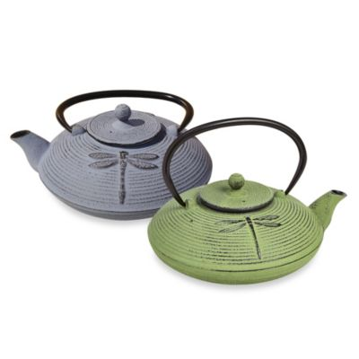 "Tetsubin ""Placidity"" 26 oz. Cast Iron Teapots with Infuser in Green"
