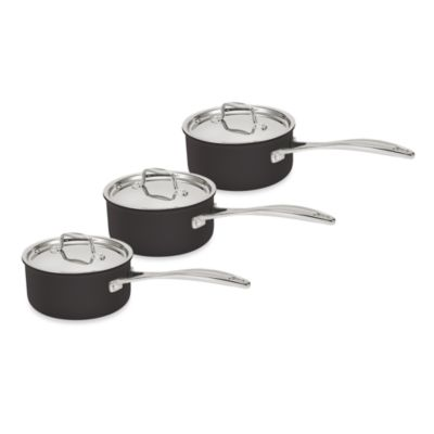 BEKA Chef Eco-Logic 100% Ceramic Nonstick Covered Saucepans in Black