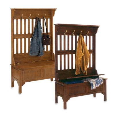Home Styles Hall Tree and Storage Bench