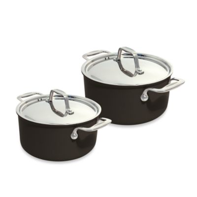BEKA Chef Eco-Logic 100% Ceramic Nonstick Covered Casseroles in Black
