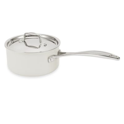 BEKA Chef Eco-Logic 100% Ceramic Nonstick 2.5-Quart Covered Saucepan in Cream