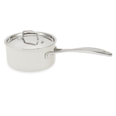 BEKA Chef Eco-Logic 100% Ceramic Nonstick 3.75-Quart Covered Saucepan in Cream