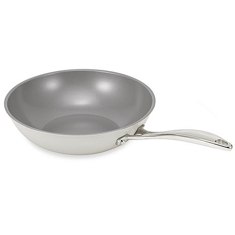 BEKA Chef Eco-logic 100% Ceramic 11-Inch Nonstick Wok in Cream