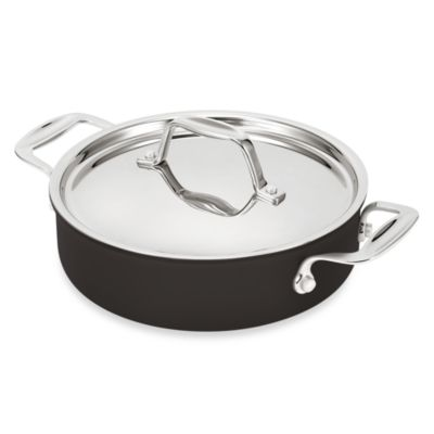 BEKA Chef Eco-Logic 100% Ceramic 9.5-Inch Nonstick Covered Saute Pan with Side Handles in Black