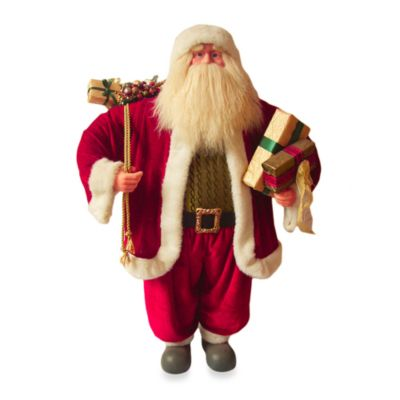 Traditional 36-Inch Standing Santa with Presents